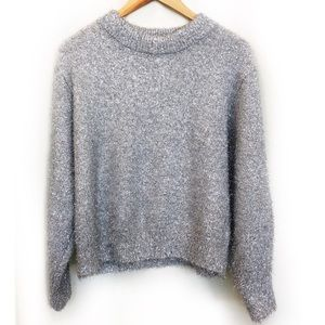 h&m | silver sparkly tinsel holiday sweater